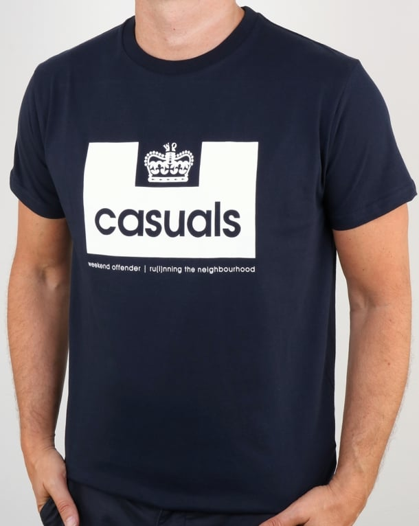 Weekend Offender Casuals T Shirt Navy