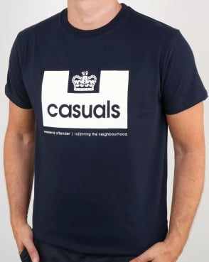 Weekend Offender Casuals T Shirt Navy
