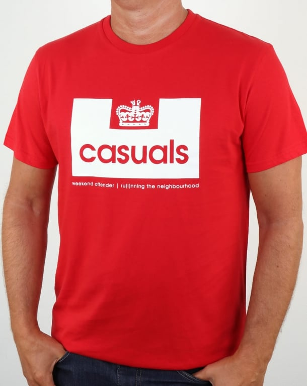 Weekend Offender Casuals T Shirt Red