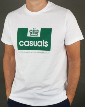 Weekend Offender Casuals T Shirt White/Green