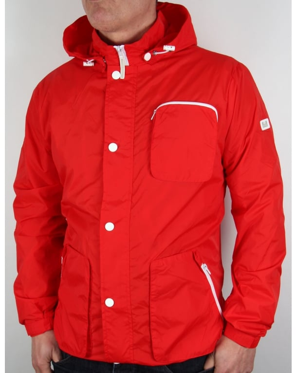 Weekend Offender Chebe Hooded Jacket Chilli Red