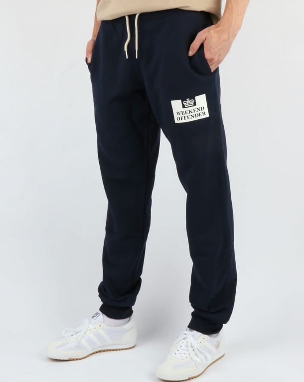 Weekend Offender Classic Jog Pant Navy