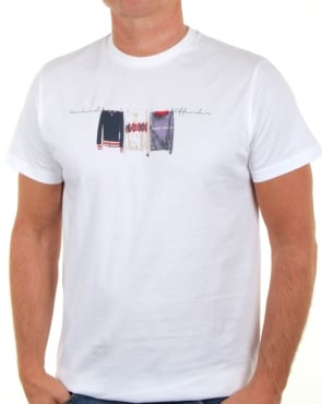Weekend Offender Continental Elegance T Shirt White