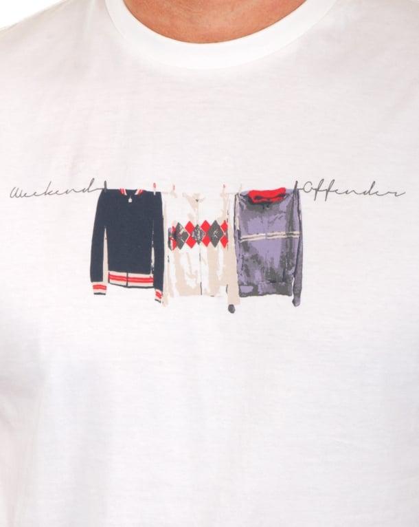 Weekend Offender Continental Elegance T Shirt White