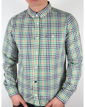 Weekend Offender Delta Checked Shirt Green