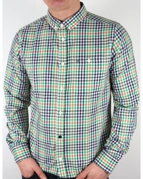 Weekend Offender Delta Checked Shirt Green