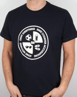 Weekend Offender Deny Everything T Shirt Navy