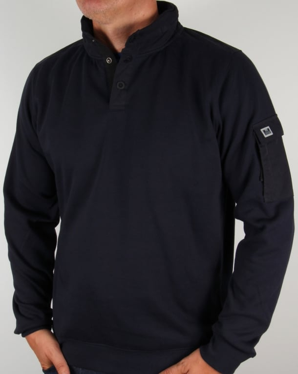 Weekend Offender Foss Hooded Sweat Navy