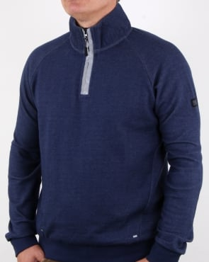 Weekend Offender Grier Qtr Zip Sweatshirt French Navy