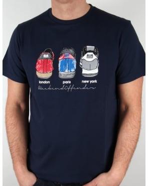 Weekend Offender Heels T-shirt Navy Blue