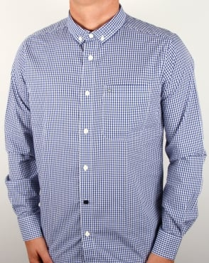 Weekend Offender Hetton Gingham Shirt Indigo/white