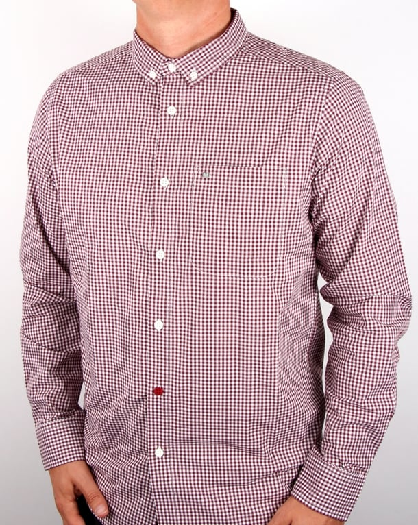 Weekend Offender Hetton Gingham Shirt Malbec/white