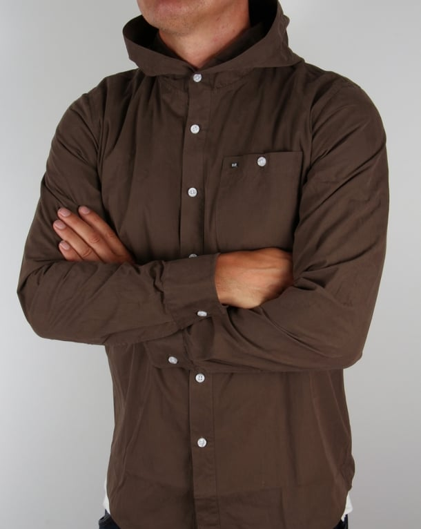 Weekend Offender Hooded Shirt Deep Olive