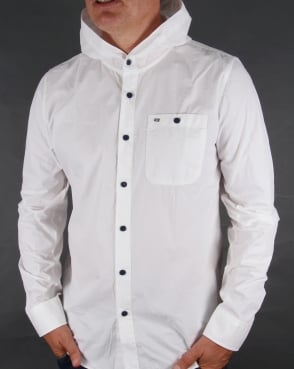 Weekend Offender Hooded Shirt White