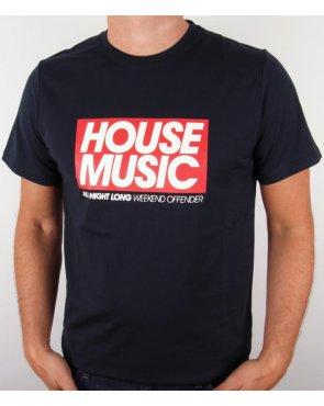 Weekend Offender House Music T-shirt Navy