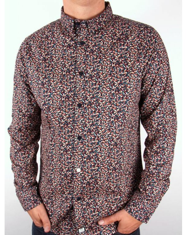 Weekend Offender Indus L/s Shirt Blue