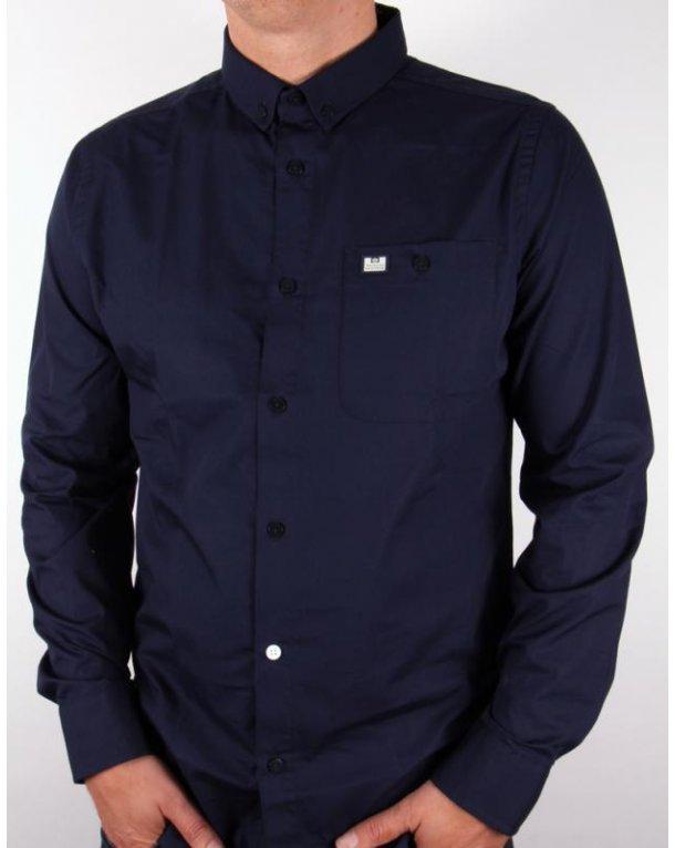 Weekend Offender Karoo L/s Shirt Navy