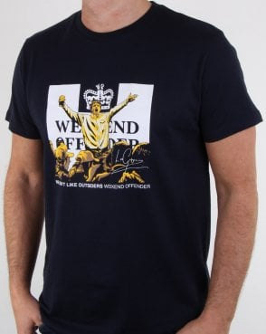 Weekend Offender Leo Gregory T Shirt Navy