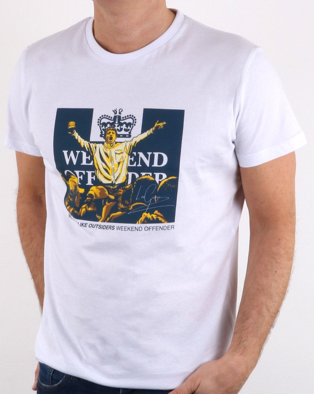 Weekend Offender Weekend Offender Leo Gregory T Shirt White d0c3727c5483
