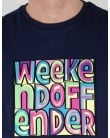 Weekend Offender Mad Cyril T-shirt Navy