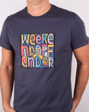 Weekend Offender Mad Cyril T Shirt Pewter