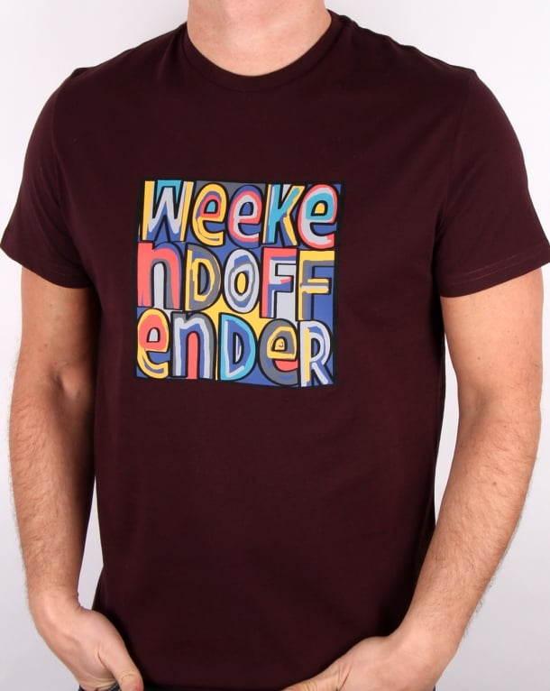 Weekend Offender Mad Cyril T Shirt Syrah