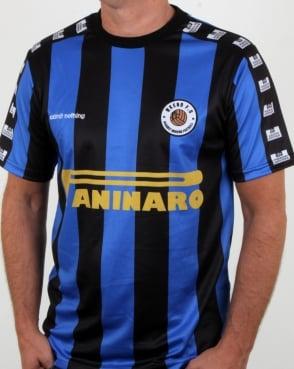 Weekend Offender Paninaro Football Shirt Blue/black
