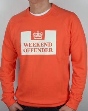 Weekend Offender Penitentiary Sweatshirt Coral