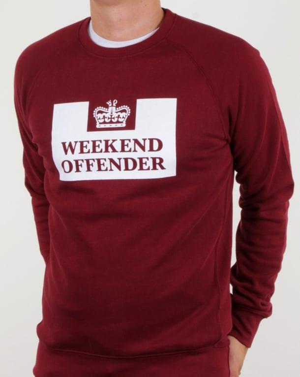 Weekend Offender Penitentiary Sweatshirt Garnet