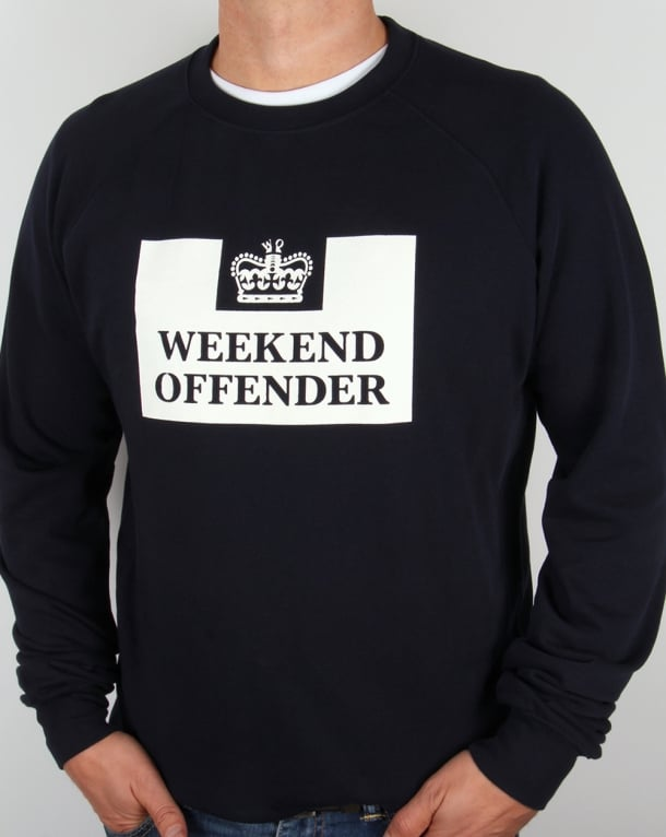 Weekend Offender Penitentiary Sweatshirt Navy