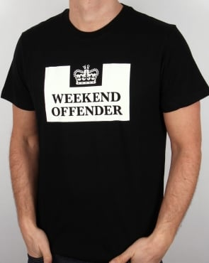 Weekend Offender Prison T Shirt Black