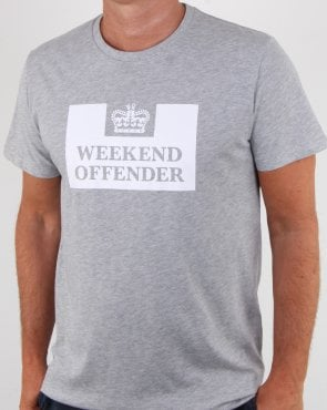 Weekend Offender Prison T-shirt Grey Marl