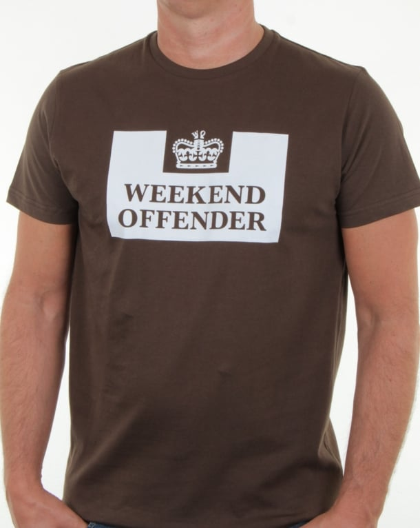 Weekend Offender Prison T Shirt Khaki Green