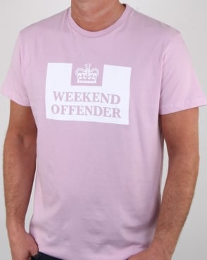 Weekend Offender Prison T Shirt Lilac