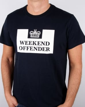 Weekend Offender Prison T-shirt Navy