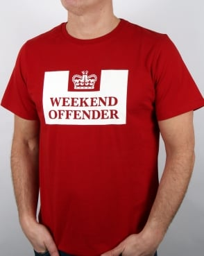 Weekend Offender Prison T-shirt Paprika Red