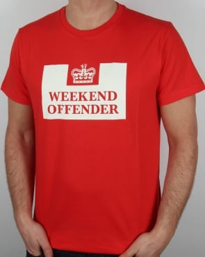 Weekend Offender Prison T-shirt Red