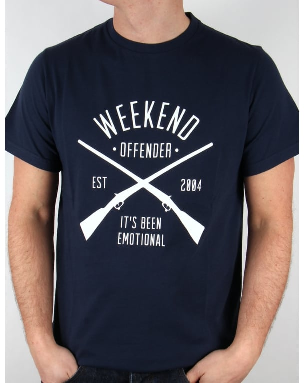 Weekend Offender Rifles T-shirt Navy