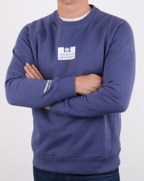 Weekend Offender Saddler Sweatshirt Light Navy