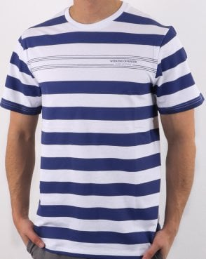 Weekend Offender Stripes T-shirt White