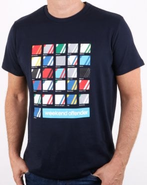 Weekend Offender The stripe colours T-shirt Navy