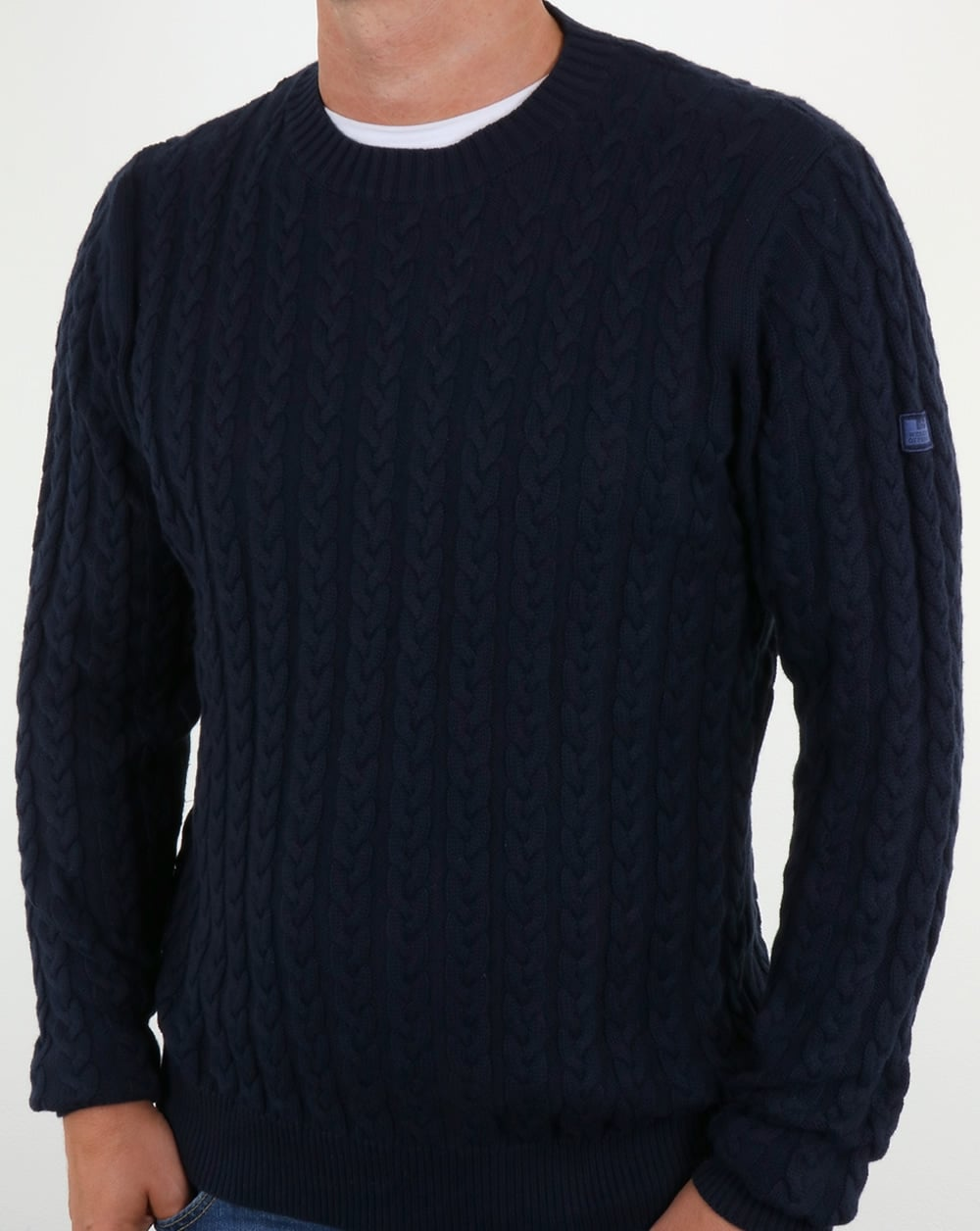 05446d33dbc0 Weekend Offender Woods Cable Knit Jumper