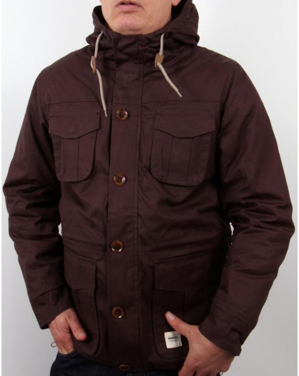 Wemoto Tobin Hooded Jacket Brown