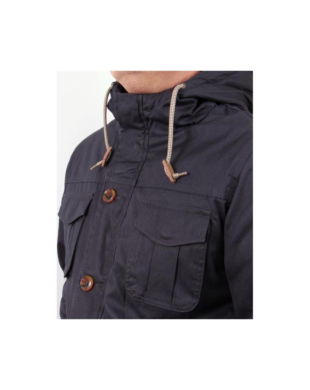 Wemoto-Arran Jacket Navy Blue//Dark Green Bomber Veste College