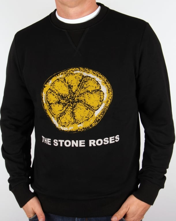 Worn By Stone Roses Lemon Sweatshirt Black