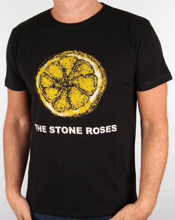Worn By Stone Roses Lemon T Shirt Black