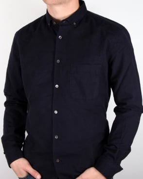Ymc Jan And Dean Brushed Shirt Navy