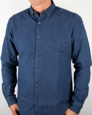 Ymc Jan And Dean Weave Shirt Indigo