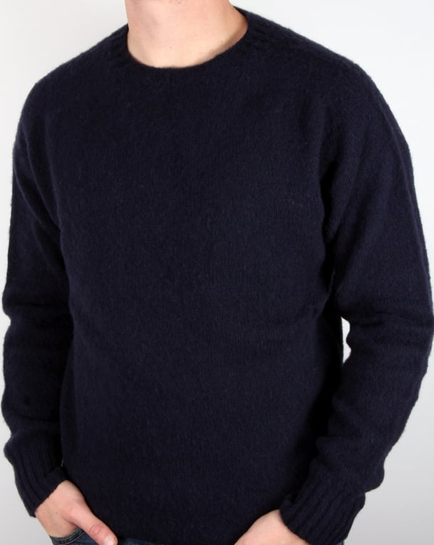 YMC Suedehead Brushed Knit Jumper Navy
