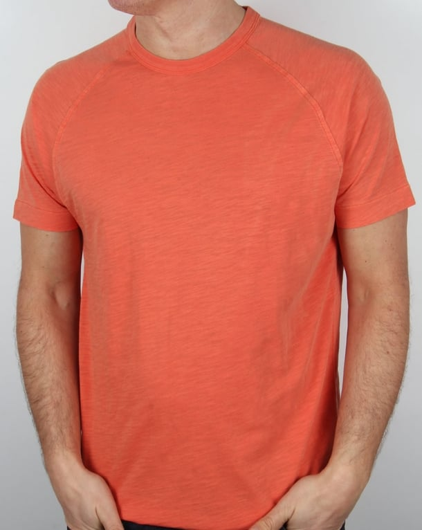 YMC Television Raglan T Shirt Orange